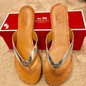 Women's size 9 Coach Sandals